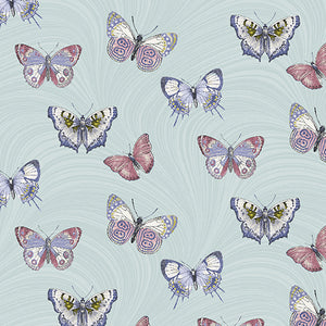 Totally Tulips - Butterfly Wave Light Teal