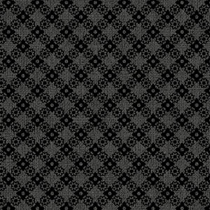 Benartex - Diamond Lattice Charcoal   0684811B