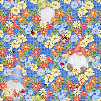 Gnome is Where Your Garden Grows - Peeking Blue Gnomes (#9443-11) by Henry Glass