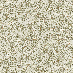 "Boughs of Beauty - Taupe/Green 108"" Cotton Wide Back Quilt Fabric  9661W-74"