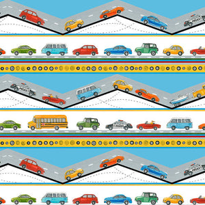 Going Places Border 9838-70 by Blank Fabrics
