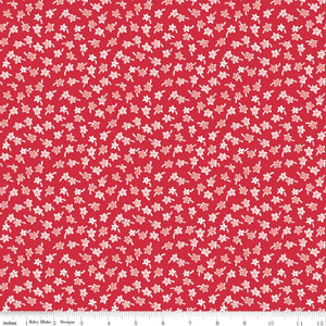 Flea Market Star Flowers Red by Lori Holt Market  C10222-RED
