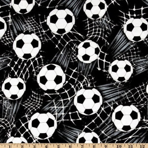Timeless Treasures - Soccer Balls Black Fabric