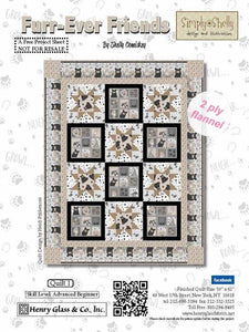 Furr Ever Friends Flannel Quilt Free Pattern