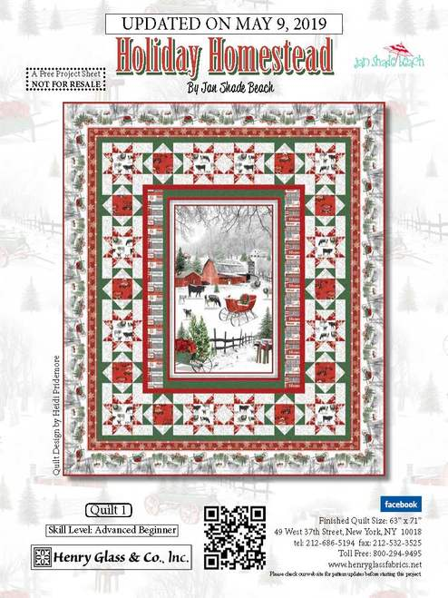 Holiday Homestead Free Pattern