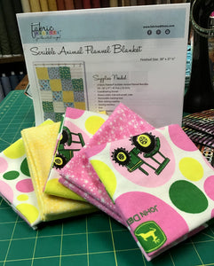 Flannel John Deere - 5 Yard Kit with Rag Quilt Pattern