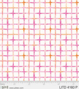 P & B Textiles - Little Darlings - Pink Checkered LITD 4160 P