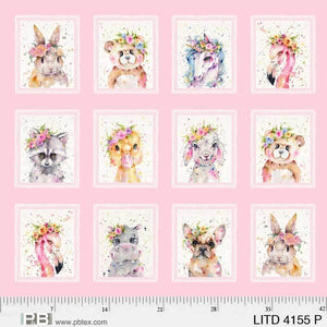P & B Textiles - Little Darlings - Block Panel  - Cotton Fabric LITD 4155 P