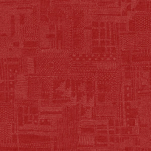 "Marcus Fabrics ""Thread the Needle"" by Laura Berringer Stitchery Red 0834-0111"