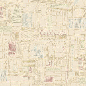 "Marcus Fabrics ""Thread the Needle"" by Laura Berringer Stitchery Cream 0834-0142"