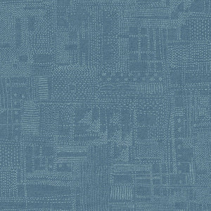 "Marcus Fabrics ""Thread the Needle"" by Laura Berringer Stitchery Blue 0834-0150"
