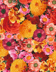 Packed Flowers Cotton Sewing Fabric