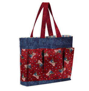 Versatile Tote - Stars and Stripes Pattern
