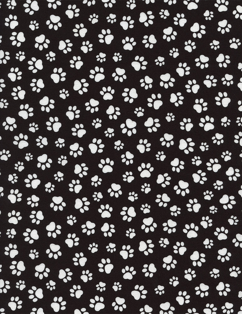 Paw Prints - Black