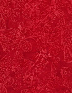 Flower Bloom Batik - Tonga Cherry