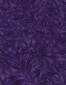 Whispy Flowers Batik - Tonga Grape