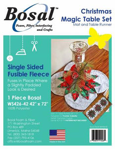 Bosal Single Sided Fusible For Christmas Magic Table Set 45in x 72in # WS426B-42