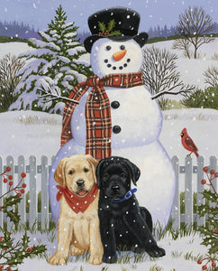 Snowman with Friends