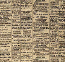 Load image into Gallery viewer, Newspaper Print Famous Headlines Tea, Blank Textiles  BTR3972