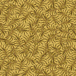 "Boughs of Beauty - Golden Rod 108"" Cotton Wide Back Quilt Fabric  9661W-33"