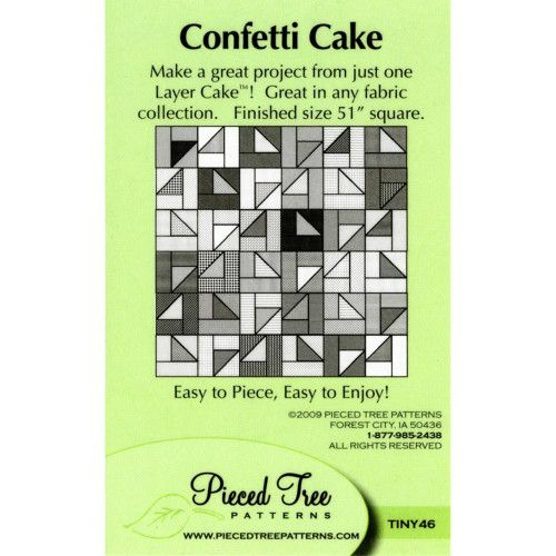 Confetti Cake Pattern by Pieced Tree