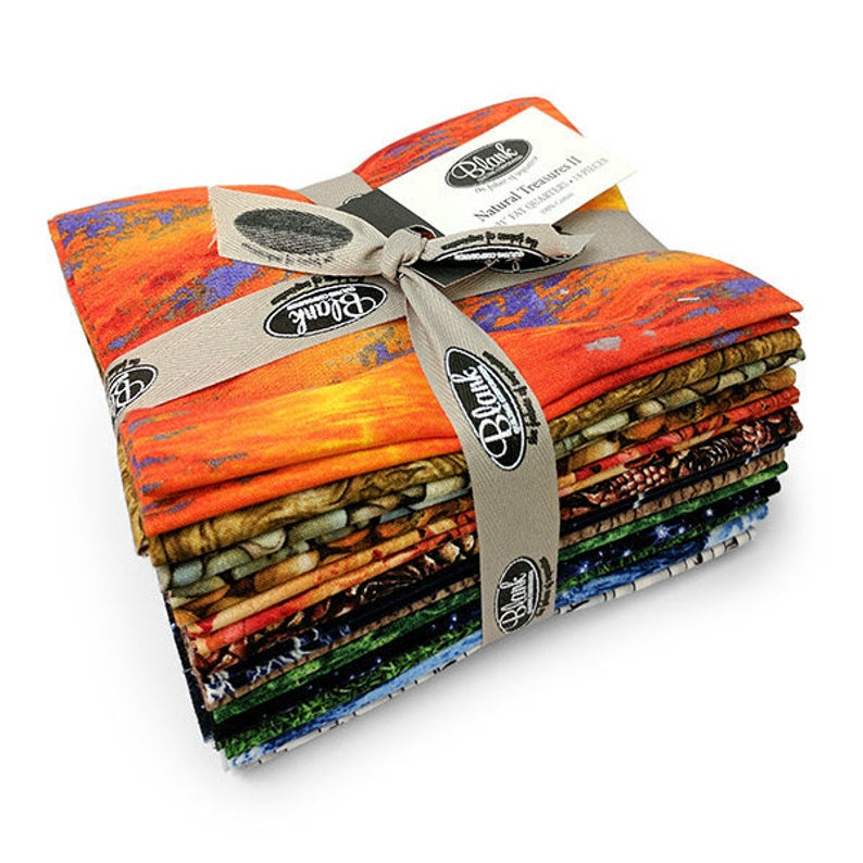 Natural Treasures II Fat Quarter Stack by Blank Quilting