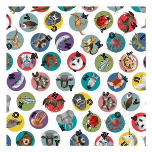 Zookeeper Animals Digital Print Cotton Fabric by Hoffman