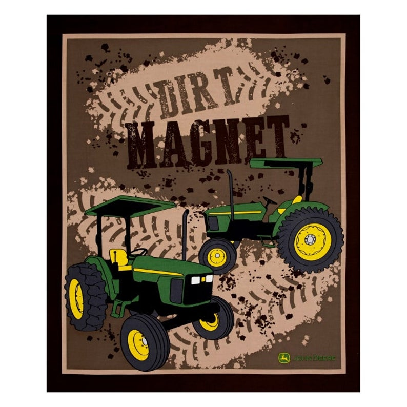 John Deere Tractor Brown Dirt Magnet Panel