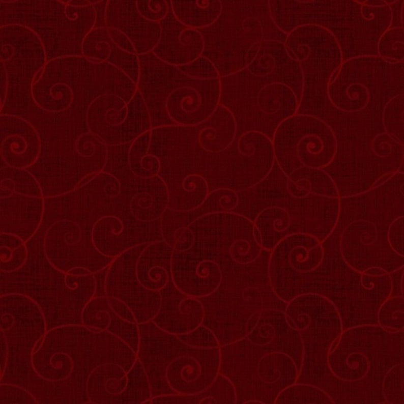 Henry Glass Fabric - Whimsy Basic - Soothing Swirl -  Crimson - 8945-89