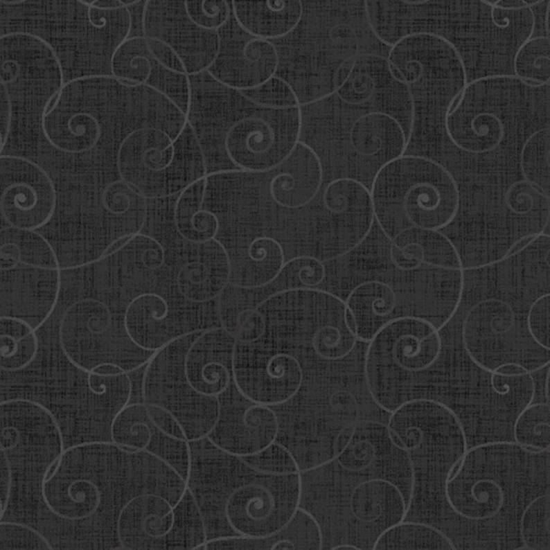 Henry Glass Fabric - Whimsy Basic - Soothing Swirl - Charcoal - 8945-95