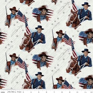 John Wayne Americana Collection Main Cream Yardage by Riley Blake Designs #C947O CREAM