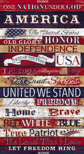 "I Pledge Allegiance Panel, 24"" Panel, Timeless Treasures, C7044"