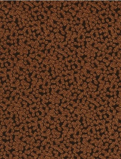 Coffee' Fabric By The Yard; By Timeless Treasures -C6881