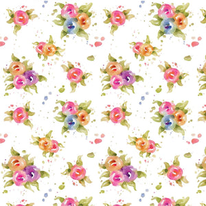 P & B Textiles - Little Darlings - Floral - Multi - Cotton Fabric by the Yard LITD4158-MU