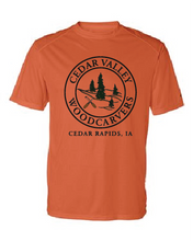 Load image into Gallery viewer, Cedar Valley Woodcarvers Dri-Fit T-Shirt