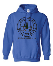 Load image into Gallery viewer, Cedar Valley Woodcarvers Hooded Sweatshirt