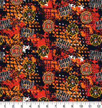 Load image into Gallery viewer, Sykel Fireman Firefighter Cotton Fabric-Firefighter Fireman Quilting Fabric-1180FF