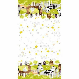 Barnyard Buddies From Suzybee - Lime Border Stripe #20323-815