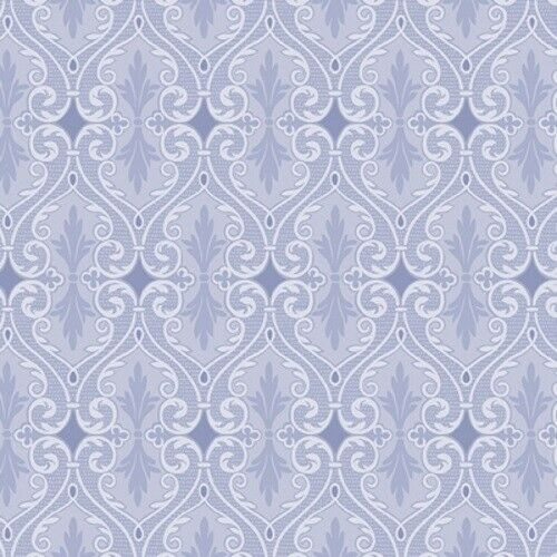 Benartex Totally Tulips by Jackie Robinson 6736P 55 Periwinkle Damask Cotton