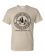 Load image into Gallery viewer, Cedar Valley Woodcarvers 50/50 T-shirt