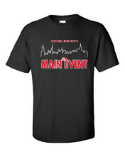 Load image into Gallery viewer, WD Main Event 100% Cotton Black Short Sleeve T