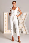 KIRSTEN JUMPSUIT IN WHITE