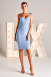 Latiya LX Bandage Dress in Baby Blue