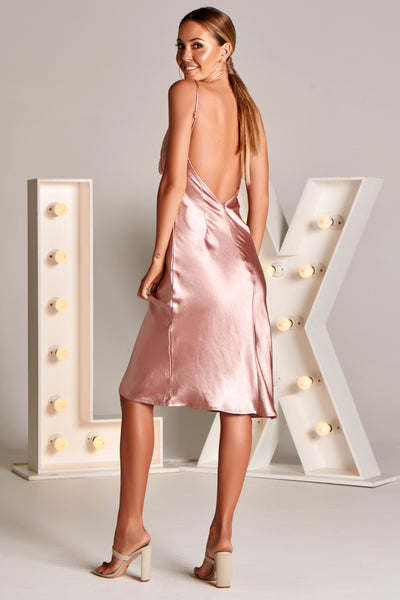 EVA Midi Dress in Rose