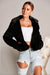 TILLIE FAUX FUR JACKET IN BLACK