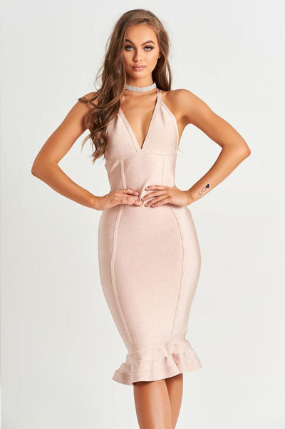 Belle Bandage Dress in Rose