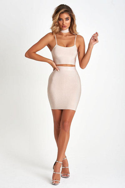 Kayla Luxe Bandage Set In Nude