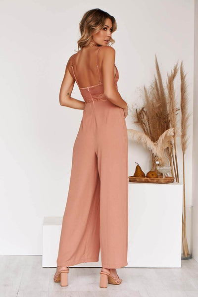 KOURTNEY JUMPSUIT IN RUST