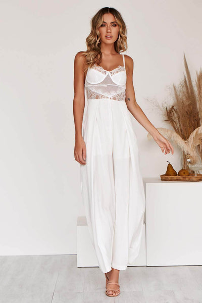 KOURTNEY JUMPSUIT IN WHITE