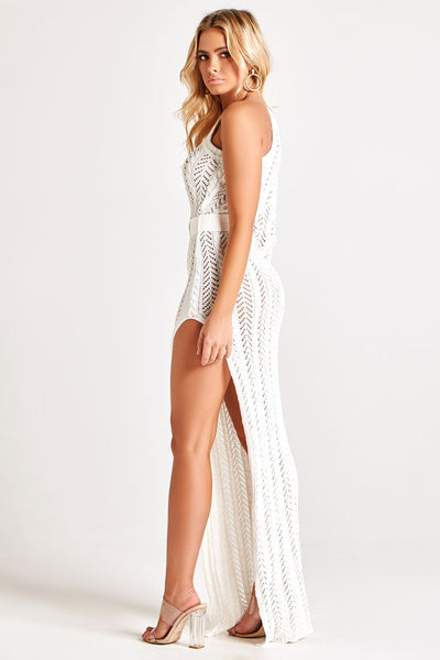 ANYA KNIT MAXI DRESS IN WHITE